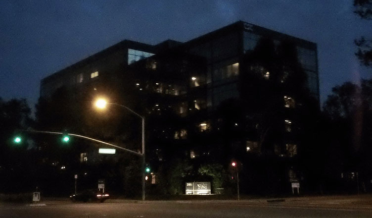 My last night at Rhythm. My office was on the fourth floor, next to the front corner.