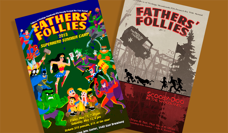 Fathers' Follies Posters 2017-2018